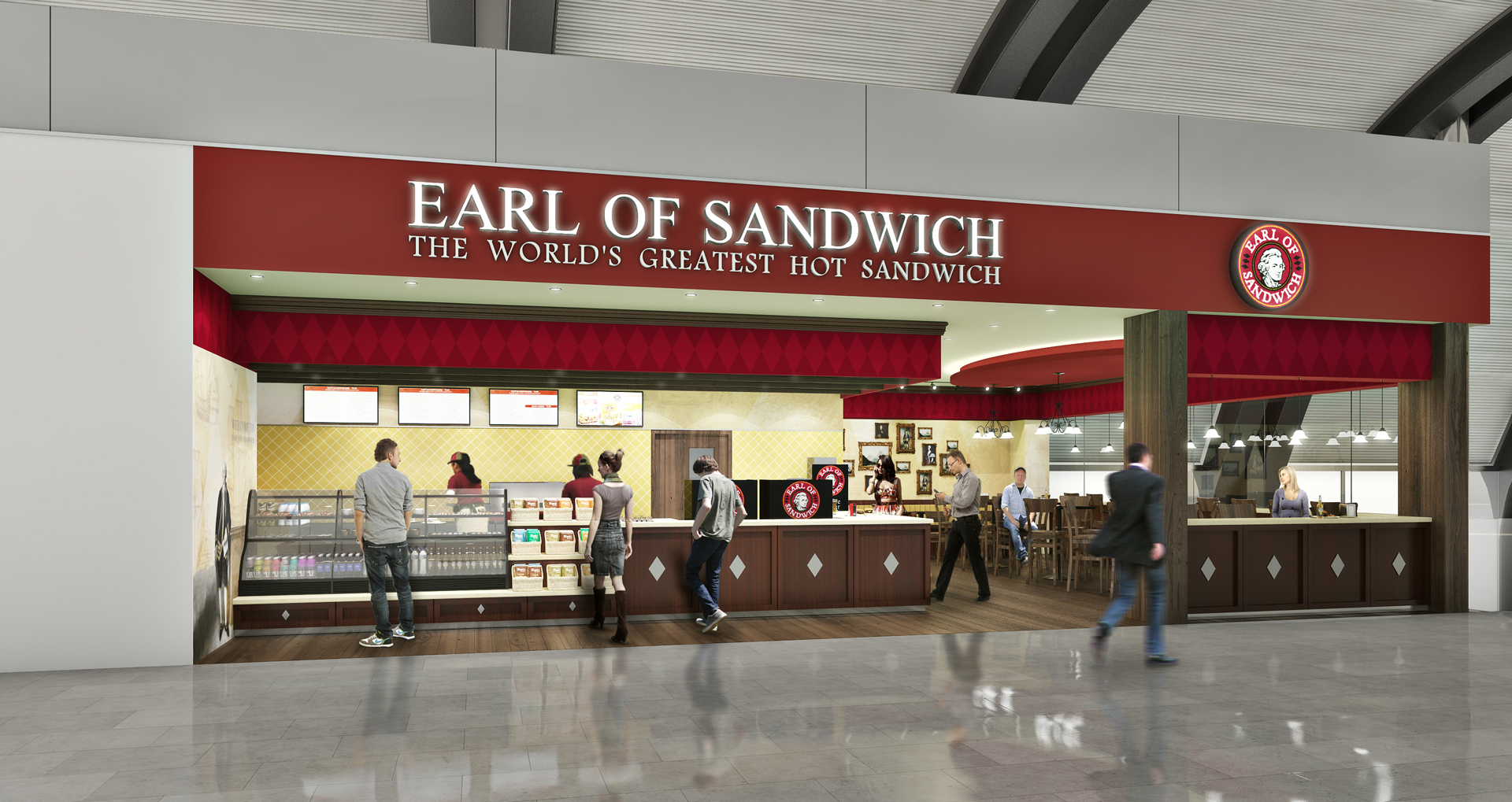 Earl of Sandwich, Detroit Airport