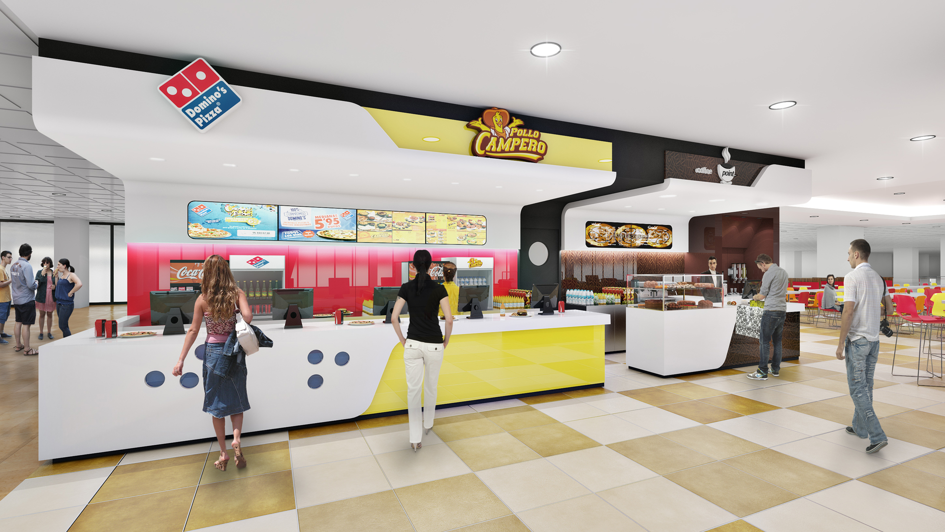 Domino's Pizza+Pollo Campero, Palama Mallorca Airport